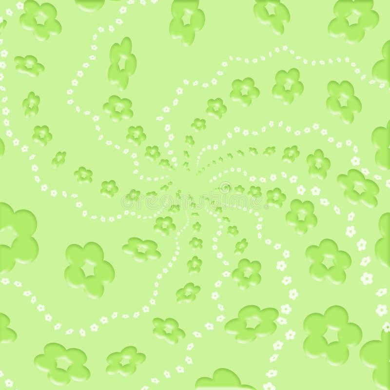 Groene bloemen royalty-vrije illustratie