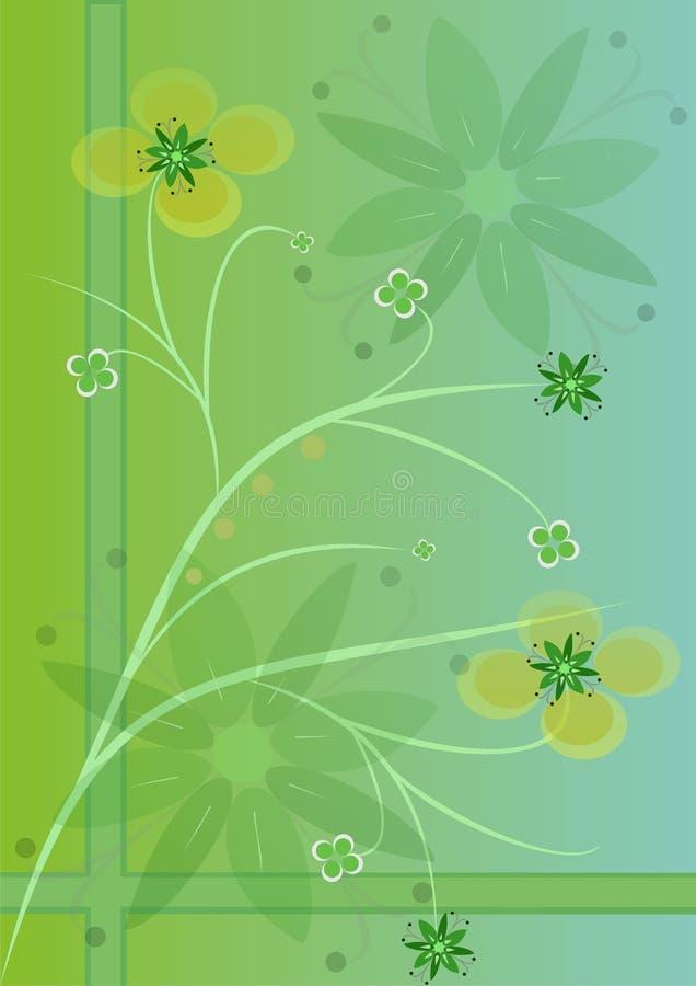 Groene bloemen vector illustratie