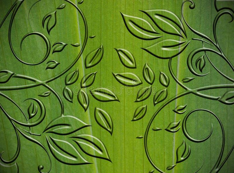 Groene bloemen abstracte achtergrond royalty-vrije stock foto's