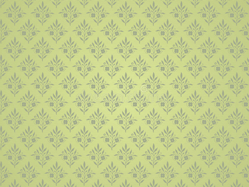 Groene bloemenachtergrond. royalty-vrije illustratie