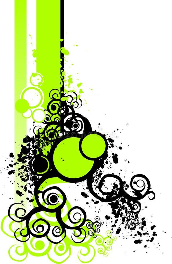 Groene BloemenElementen stock illustratie
