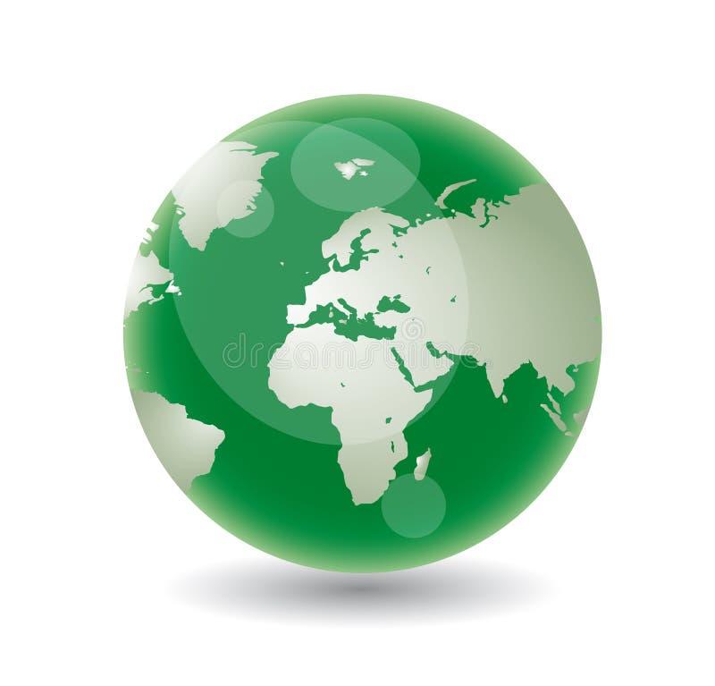 Groene bol royalty-vrije stock afbeelding