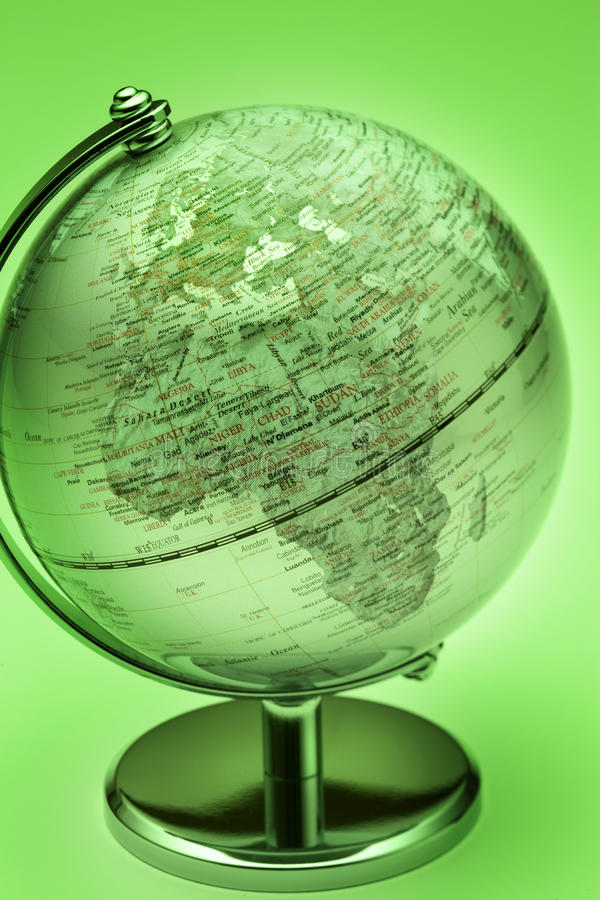 Groene Bol Europa Afrika vector illustratie