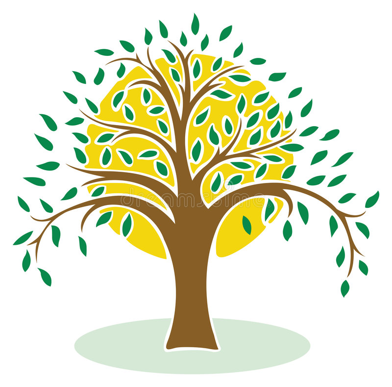 Groene boom vector illustratie