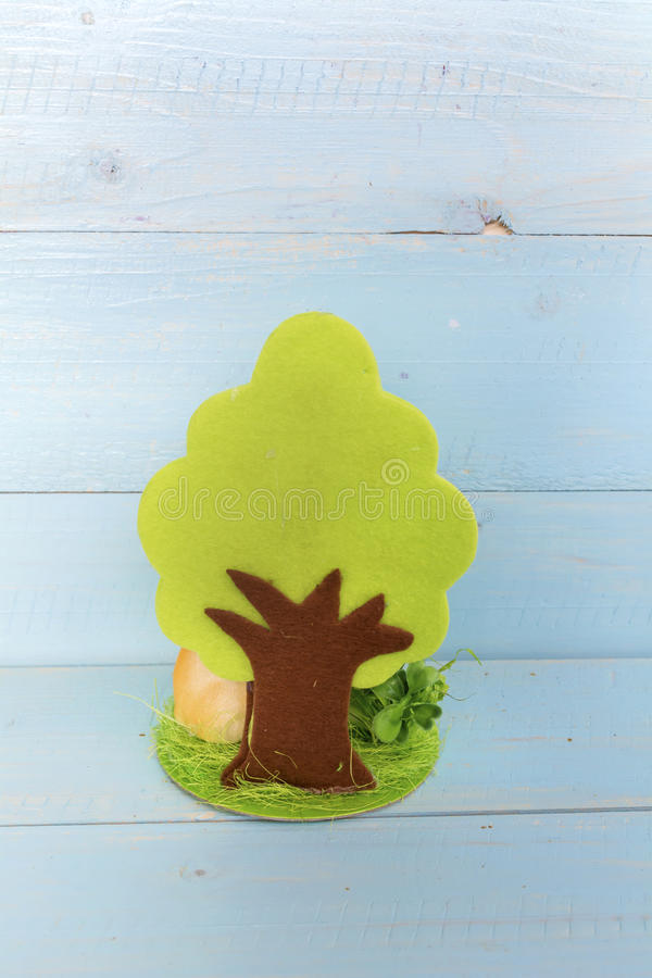 Groene boom Het concept van de ecologie stock afbeelding