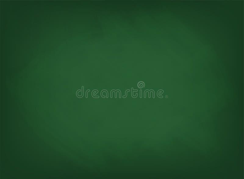Groene bordtextuur De achtergrond van de schoolraad met sporen van krijt stock illustratie