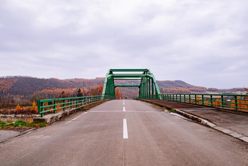 Groene brug in Hokkaido royalty-vrije stock afbeelding