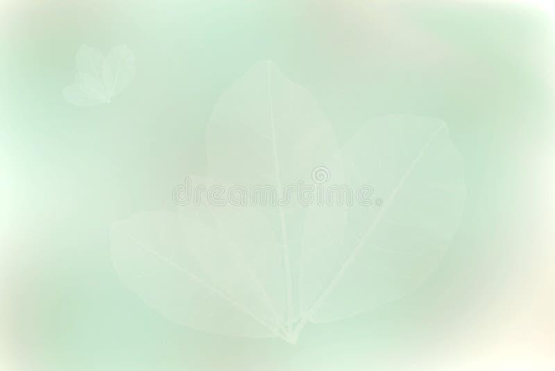 Groene bruine bladerenachtergrond, Abstract onduidelijk beeld royalty-vrije illustratie