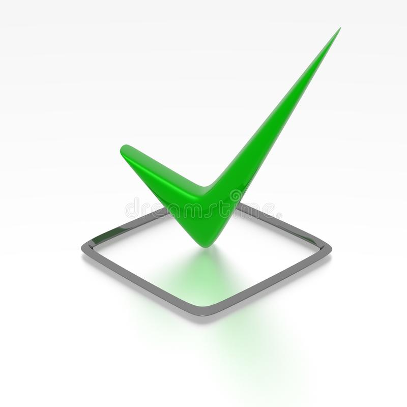 Groene checkbox vector illustratie