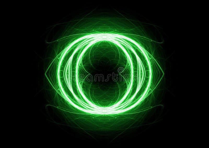 Groene cirkelbliksem royalty-vrije illustratie