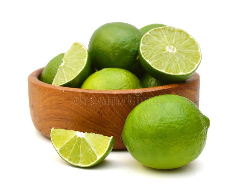 Groene citroenen royalty-vrije stock foto