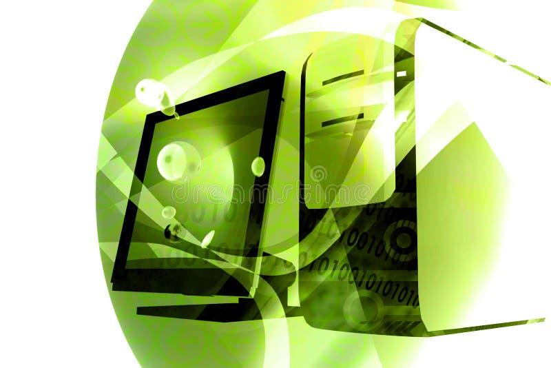 Groene computertechnologiemengeling - royalty-vrije illustratie