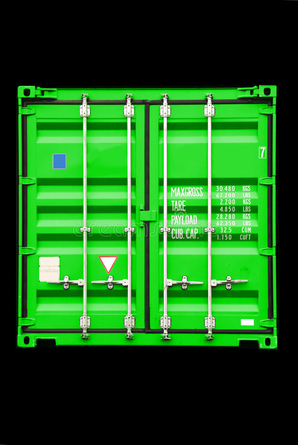 Groene container stock foto's