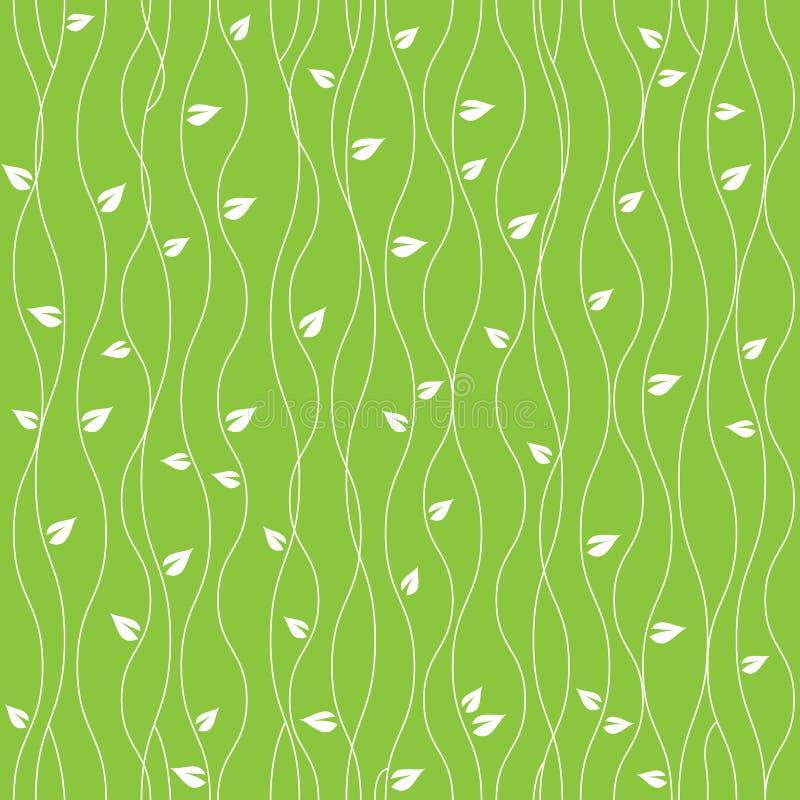 Groene de aard doorbladert naadloze patroon vector abstracte lijnen als achtergrond vector illustratie