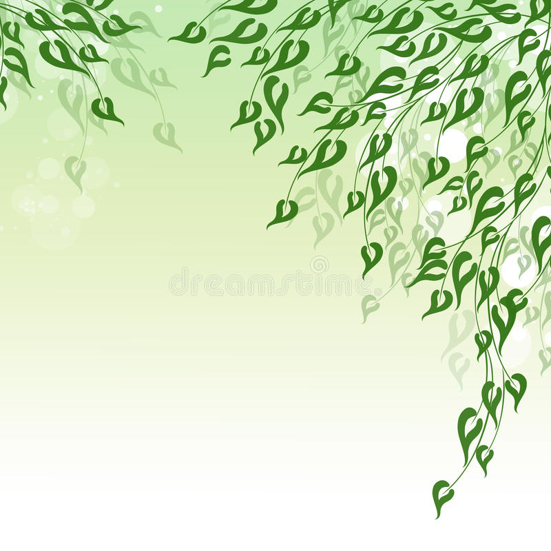 Groene de lente stock illustratie