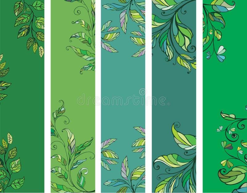 Groene de lentebanners vector illustratie