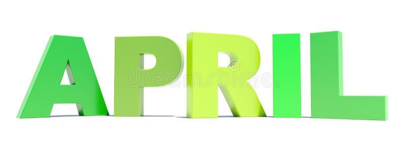 Groene de teksttitel van april royalty-vrije illustratie