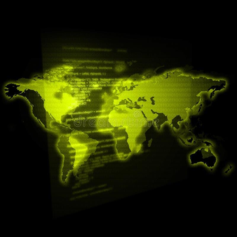 Groene de Wereld van IT royalty-vrije illustratie