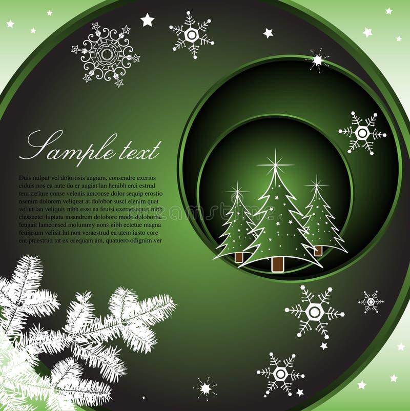 Groene de winterkaart stock illustratie