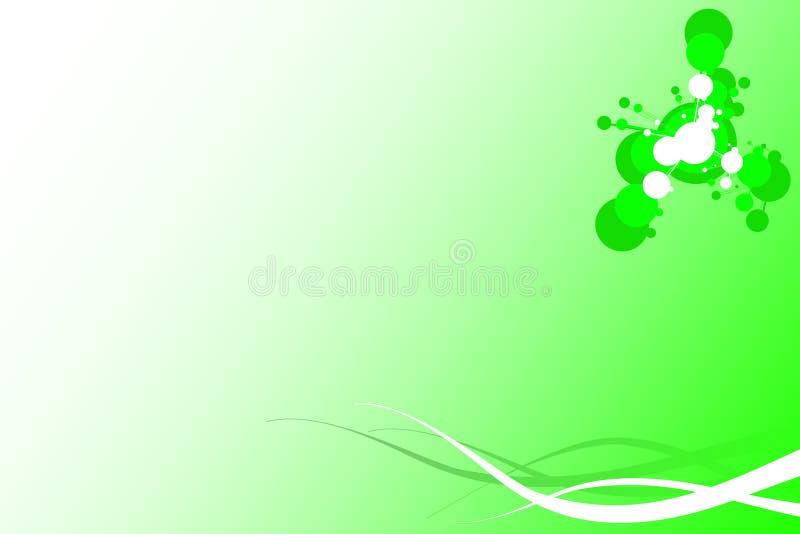 Groene Decoratieve Achtergrond stock illustratie