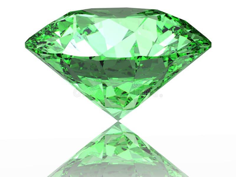 Groene diamant royalty-vrije illustratie