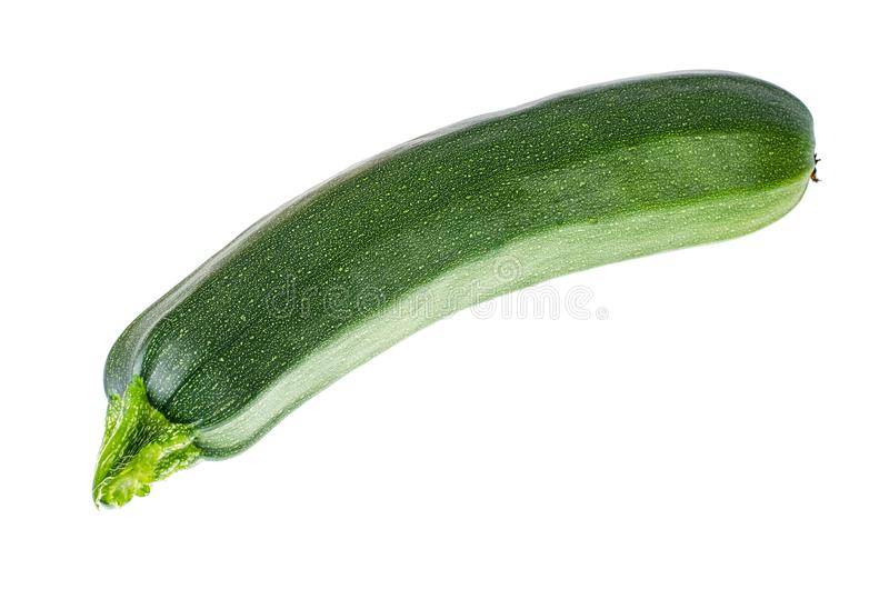 Groene die courgette, op witte achtergrond wordt geïsoleerd stock foto