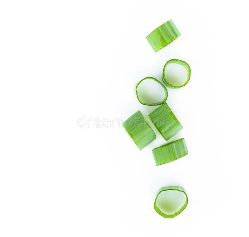 Groene die de uigroente van de close-up hoogste mening op witte backgroun wordt gesneden royalty-vrije stock afbeeldingen