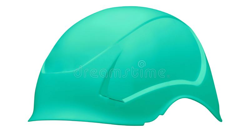 Groene die fietshelm op wit wordt geïsoleerd royalty-vrije stock afbeelding