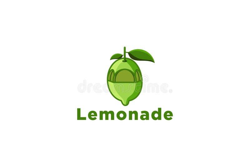 groene die limonade, de Ontwerpeninspiratie van het sapembleem op Witte Achtergrond wordt geïsoleerd vector illustratie