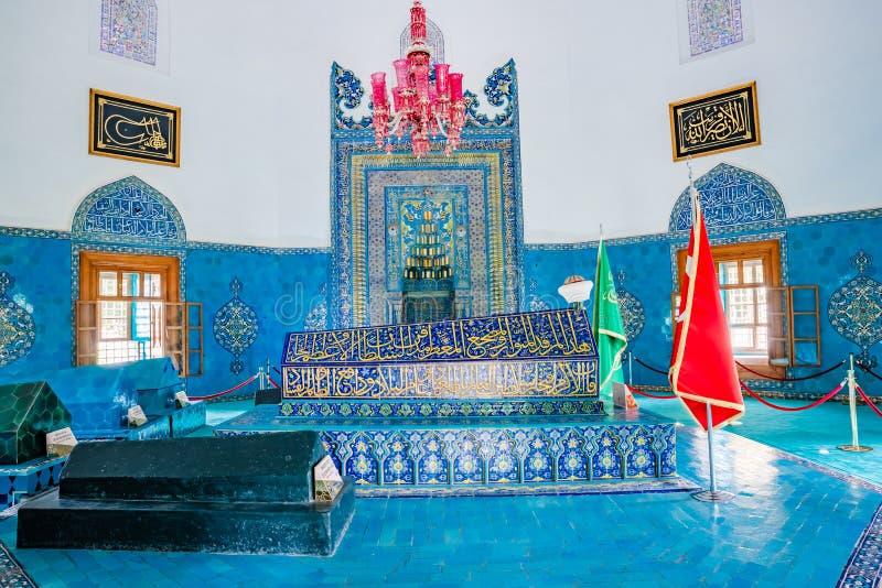 Groene die Moskee ook als Moskee van Mehmed I in Slijmbeurs Turkije wordt bekend stock foto's