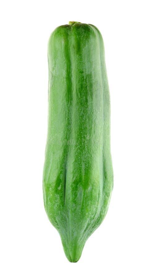 Groene die papaja op de witte achtergrond wordt geïsoleerd royalty-vrije stock afbeelding
