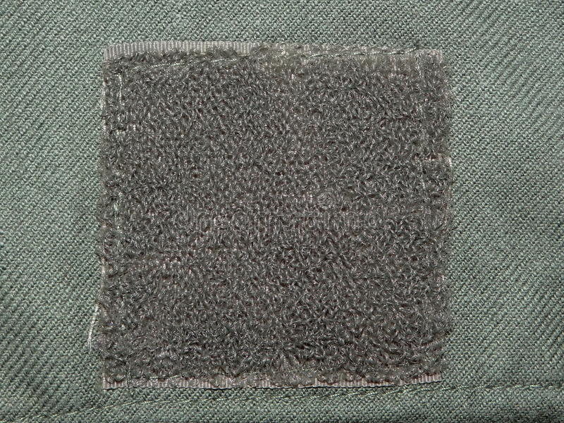 Groene doek met Klitband stock fotografie