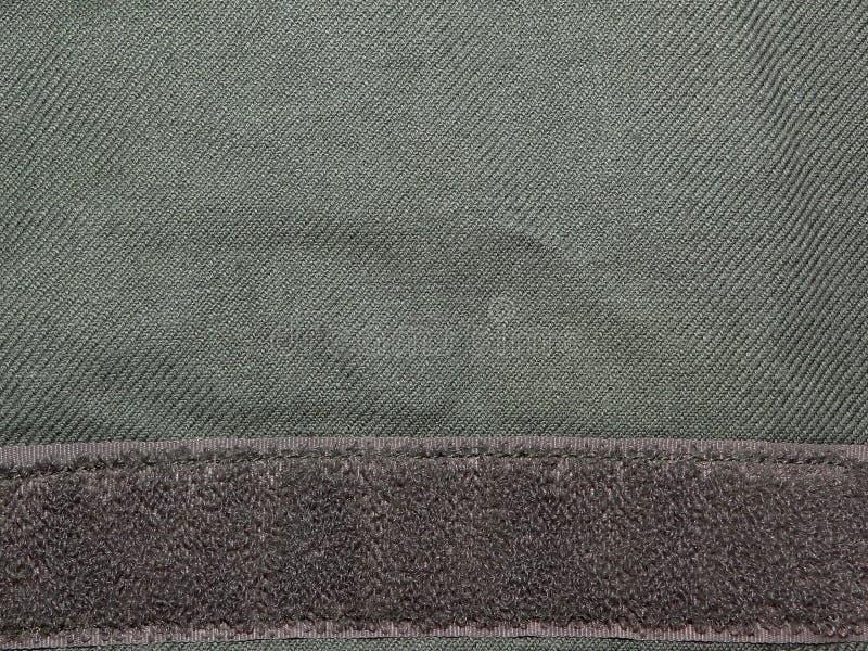 Groene doek met Klitband stock afbeelding