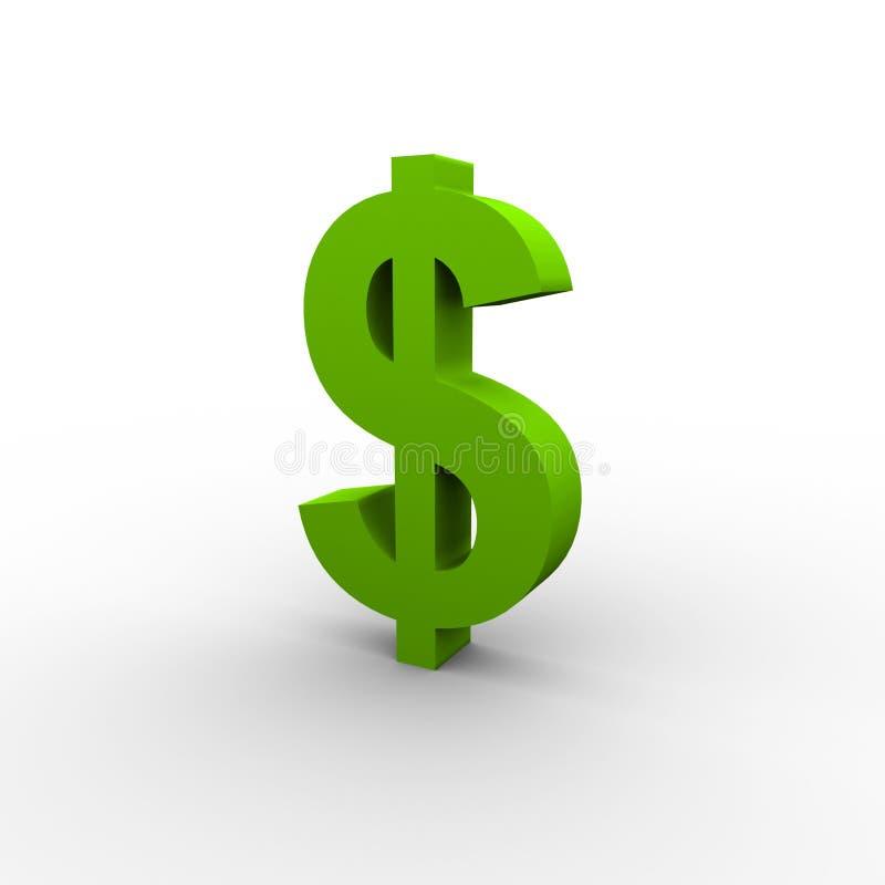 Groene Dollar stock illustratie