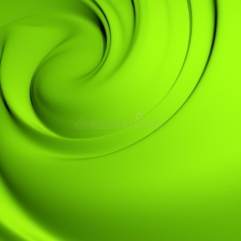 Groene draaikolk stock illustratie