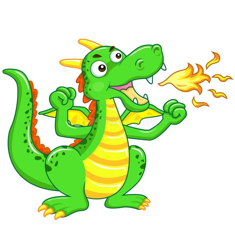 Groene draak vector illustratie