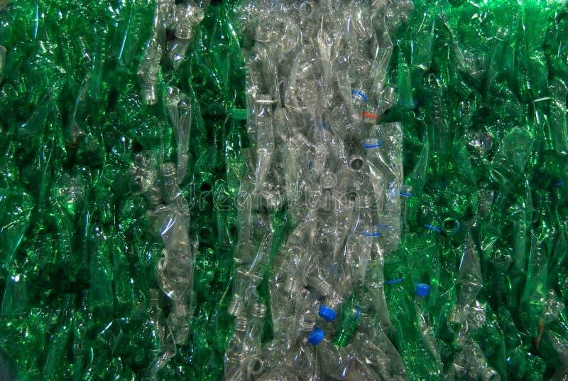 Groene duidelijk van flessen royalty-vrije stock foto