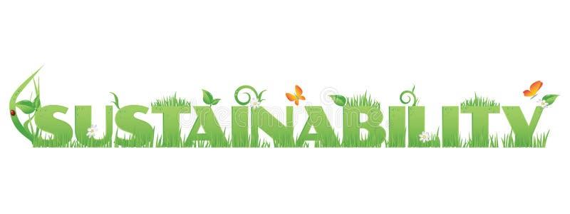Groene Duurzaamheid stock illustratie