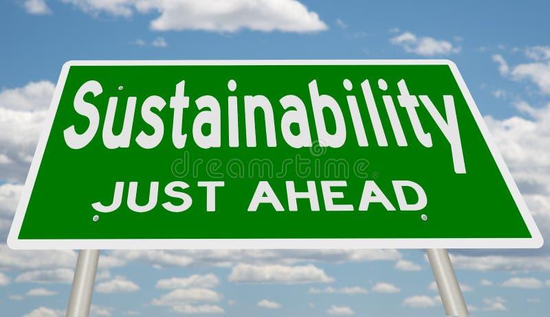 Groene Duurzaamheid enkel vooruit stock illustratie
