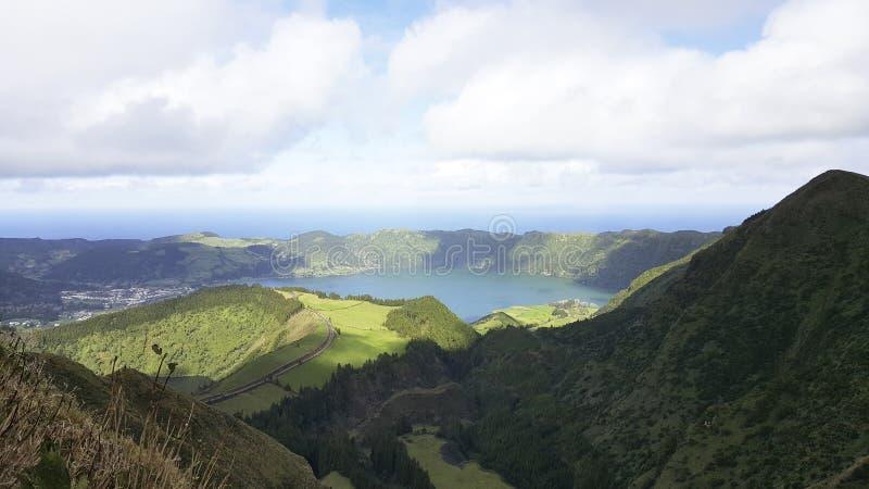 Groene Duurzame São Miguel Island, de Azoren royalty-vrije stock foto's