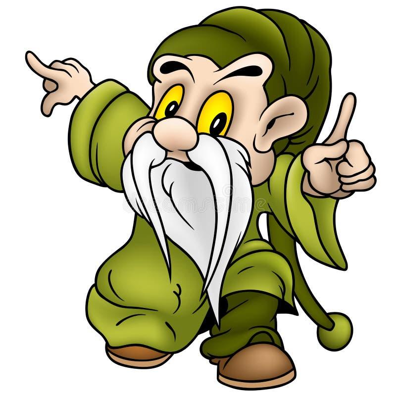 Groene Dwerg vector illustratie