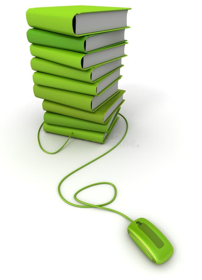 Groene e-boeken royalty-vrije illustratie
