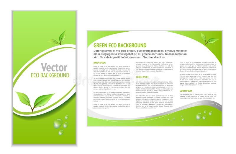Groene Eco-Achtergrond royalty-vrije illustratie