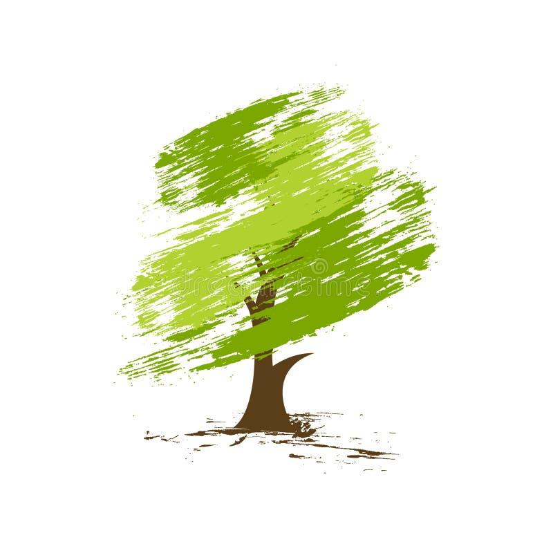Groene ecoboom vector illustratie