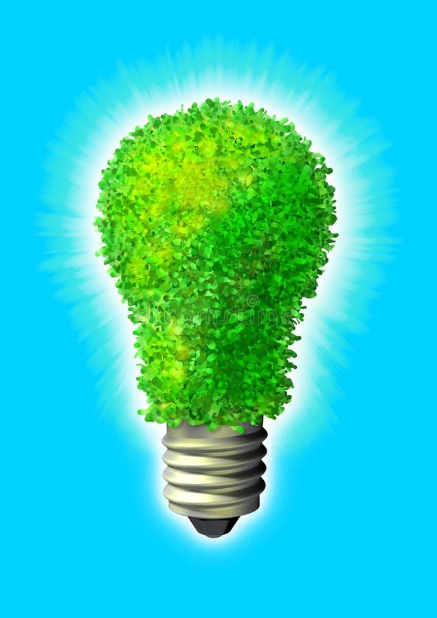 Groene ecoenergie vector illustratie