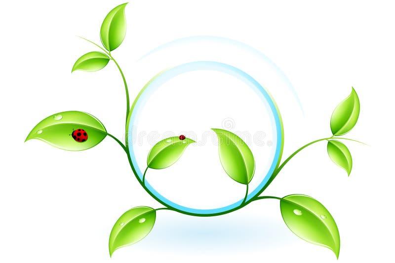 Groene ecologie stock illustratie