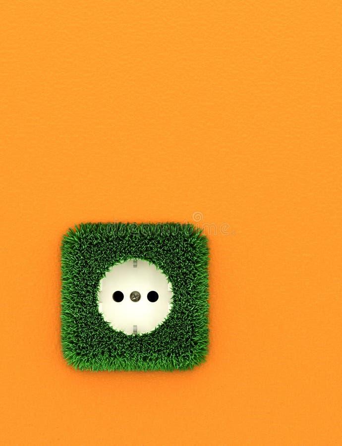 Groene elektroafzet royalty-vrije stock foto's