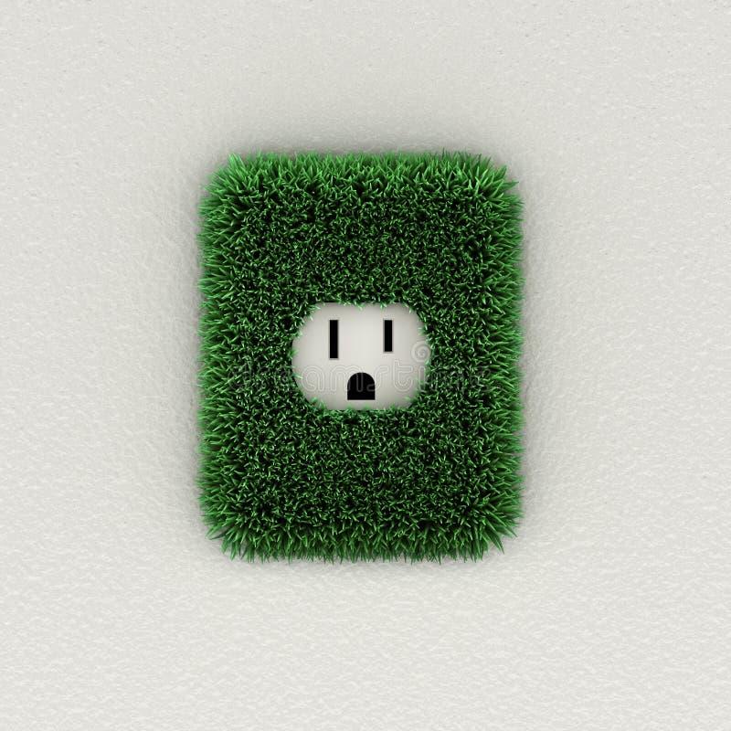 Groene elektroafzet royalty-vrije illustratie