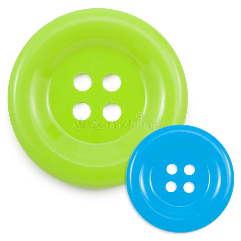 Groene en Blauwe die clasper op wit op wit wordt geïsoleerd royalty-vrije stock foto