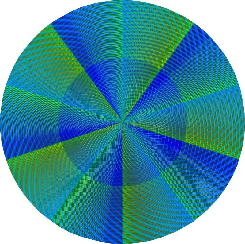 Groene en blauwe mandala stock illustratie